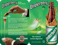 the natural herbal digestive - Underberg