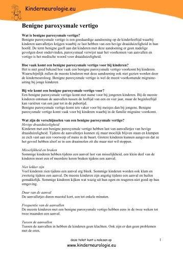 Benigne paroxysmale vertigo - Kinderneurologie