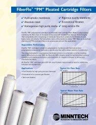 """FiberFlo """"PM"""" Pleated Cartridge Filters Brochure - Liquidyne"""