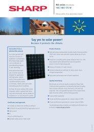 Say yes to solar power! - Rexel Renewable Energy