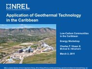 Application of Geothermal Technology in the Caribbean - Energy ...