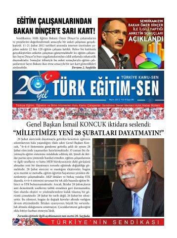 EĞİTİM ÇALIŞANLARINDAN BAKAN DİNÇER'E ... - Türk Eğitim-Sen
