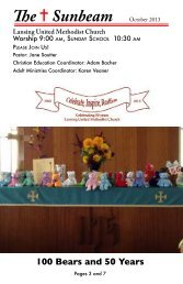 100 Bears and 50 Years - Lansing United Methodist Church