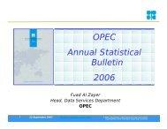 OPEC Annual Statistical Bulletin 2006