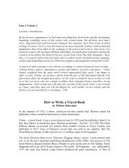 How to Write a Travel Book