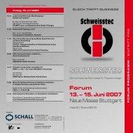 forum 13. – 15. Juni 2007 Neue Messe Stuttgart - Schall Kongress