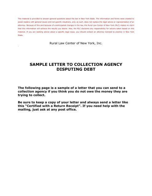 Debt Collection Dispute Letter Template from img.yumpu.com