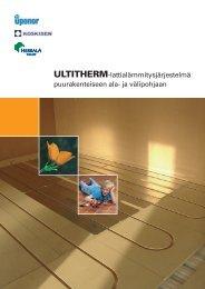 ULTITHERM-lattialämmitysjärjestelmä ... - Rakentaja.fi