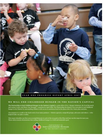 we will end childhood hunger in the nation's capital - Share Our ...