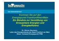 Vortrag Hr. Dr. Neumann Frankfurt/M - Bafa