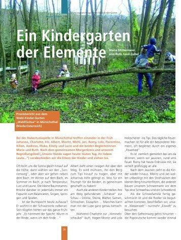 Ein Kindergarten der Elemente