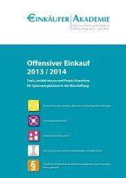 Offensiver Einkauf 2013 / 2014 - Einkäufer- Akademie