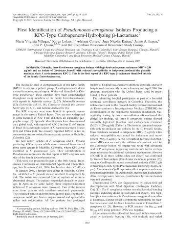 Pseudomonas aeruginosa - APIC West Virginia