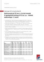 Halvårsrapport 2013 - Spar Nord