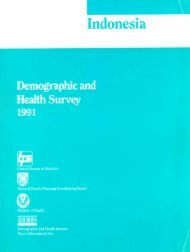 Indonesia Demographic and Health Survey 1991 ... - Measure DHS