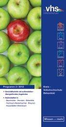 Programm 2 / 2012 Kreis - Volkshochschule Birkenfeld