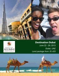 Destination Dubai - University of Maryland