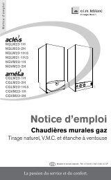 Notice d'emploi Chaudières murales gaz - Chauffe-eau