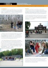 I. Aufgaben II. Ziele - Gedenkstätte Buchenwald