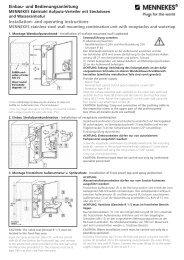 und Bedienungsanleitung Installation- and operating ... - Mennekes