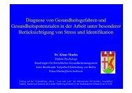 Diagnose von Gesundheitsgefahren und ... - GESA