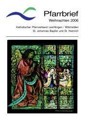 Pfarrbrief - kath. Pfarrgemeinde St. Johannes Baptist & St. Heinrich ...