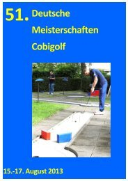 51.Deutsche Meisterschaften Cobigolf - DM 2013