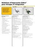 Fiche technique gamme de produits kiosques - Zebra - Page 2