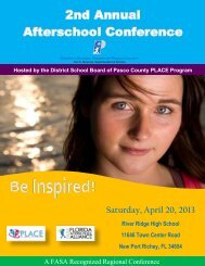 "to download the 2nd Annual Afterschool Conference ""BE INSPIRED"""