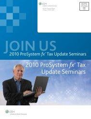 2010 ProSystem fx® Tax Update Seminars - CCH