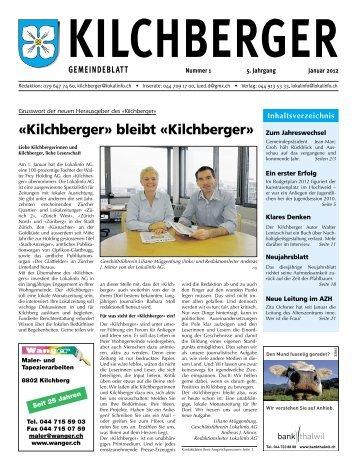 «Kilchberger» bleibt «Kilchberger» - Gemeinde Kilchberg