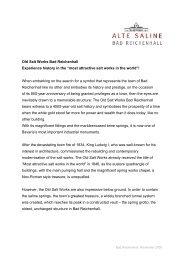 Old Salt Works Press Release 2009 - Alte Saline