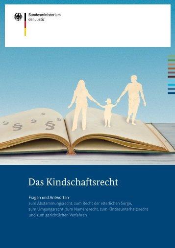 Das Kindschaftsrecht