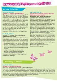 Het programma 2009 - Schools at University for Climate and Energy