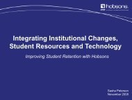 Integrating Institutional Changes, Student Resources and ... - AACRAO