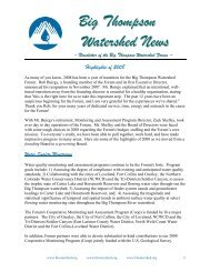 Highlights of 2008 - Big Thompson Watershed Forum