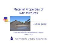 Material Properties of RAP Mixtures - Petersen Asphalt Research ...
