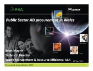 Public Sector AD procurement in Wales - Sustainability Live