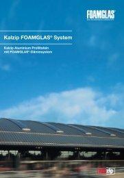 Dachaufbauten Kalzip FOAMGLAS® System
