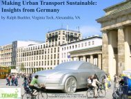 Making Urban Transport Sustainable: Insights from Germany by - ciens