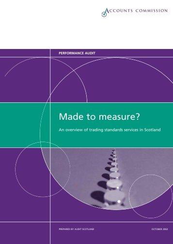 Trading standards overview (PDF | 471 KB) - Audit Scotland