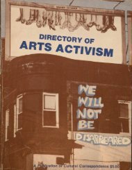 Directory of Arts Activism - Dark Matter Archives