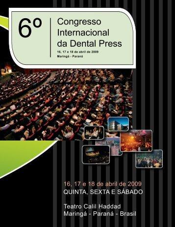 6º Congresso internacional da dental Press