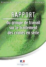 Rapport du groupe de travail sur le traitement des crimes en série