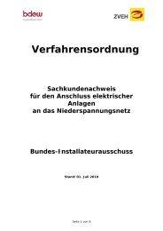 Verfahrensordnung Sachkundenachweis 2010