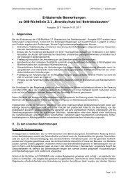 """Erläuternde Bemerkungen zu OIB-Richtlinie 2.1 """"Brandschutz bei ..."""