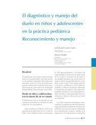 El diagnóstico y manejo del duelo en niños y adolescentes en la ...