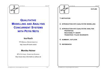 qualitative modelling and analysis concurrent systems with petri nets