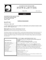March 2007 Vol. 24 No. 1 - Association for Asian American Studies