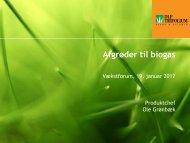 Afgrøder til biogas - DLG Tele